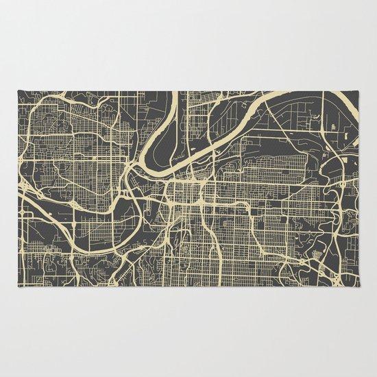 Kansas City map Rug