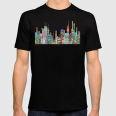 Melbourne Black Mens Fitted Tee LARGE
