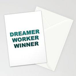 Dreamer Worker Winner - Dream.Work.Win - Inspirational - 57 Montgomery Ave Stationery Cards