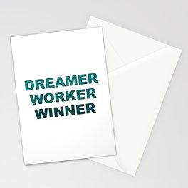 Dreamer Worker Winner - Dream.Work.Win - Inspirational - 57 Montgomery Ave Stationery Cards