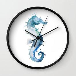 Melancholic Seahorse Wall Clock