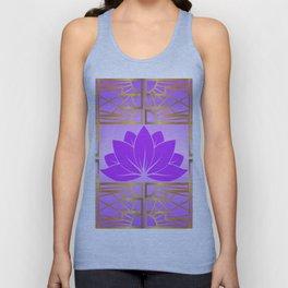 Art Deco Retro Lotus (violet-amethyst) Unisex Tank Top