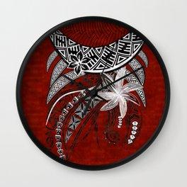 Polynesian - Hawaiian Kona Lava Tribal Print Wall Clock
