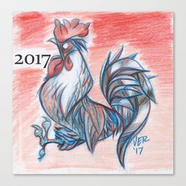 Zodiac Rooster Canvas Print