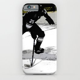 On the Move - Hockey Player iPhone Case