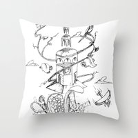 poland Throw Pillows featuring O'Prime Zielona Góra Poland by O'Prime