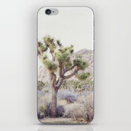 Pale Desert - Joshua Tree Boho Landscape Photography iPhone Skin