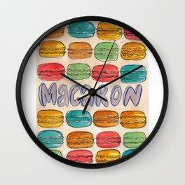 Macaron NOT Macaroon Wall Clock
