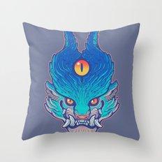 Blue Foo Throw Pillow