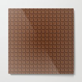 Just chocolate / 3D render of dark chocolate Metal Print
