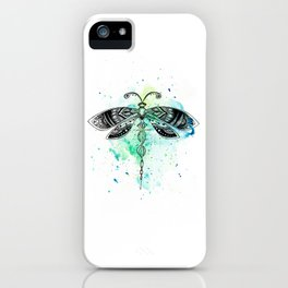 Watercolor dragonfly iPhone Case