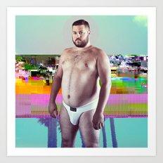 Bear Blip Art Print