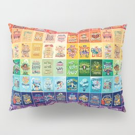 Rainbow of Posters Pillow Sham