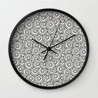 stark Wall Clocks featuring Stark Circles by SonyaDeHart