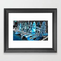 Skate Seats Framed Art Print