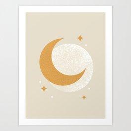 Moon Sparkle - Celestial Art Print