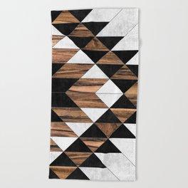 Urban Tribal Pattern No.9 - Aztec - Concrete and Wood Beach Towel