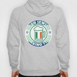 Irish Jewish Drinking Team With Israel Flag Patty's Hoody