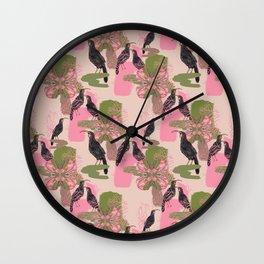 Huias and Proteas Wall Clock