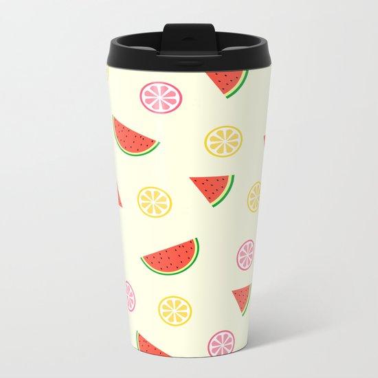 Lemons and watermelons Metal Travel Mug