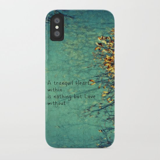 A Tranquil Heart iPhone Case