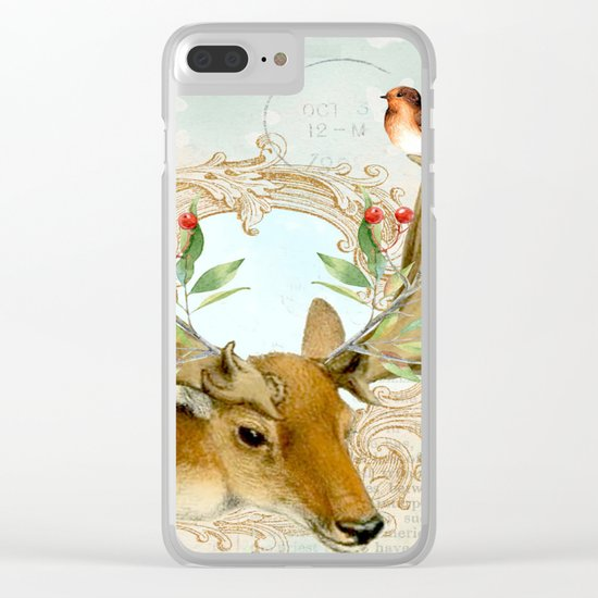 Winter animal #6 Clear iPhone Case