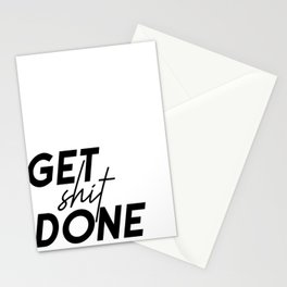 Get Shit Done, Typography Poster, Printable Art, Office Decor, Motivational Poster Stationery Cards