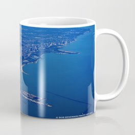 Chicago By Air No. 1: The Lakeshore from Downtown to Evanston Coffee Mug