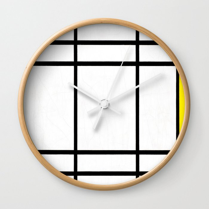 Piet Mondrian - Composition in White, Red, and Yellow Wall Clock