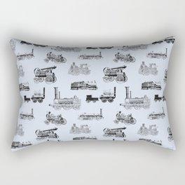 Antique Steam Engines // Steel Grey Rectangular Pillow