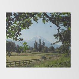 View of Mt Rainier Throw Blanket