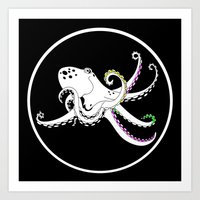 octopus Art Prints featuring Octopus by mailboxdisco