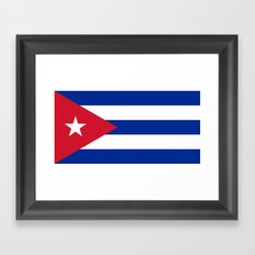 Flag of Cuba - Authentic version (High Quality Image) Framed Art Print