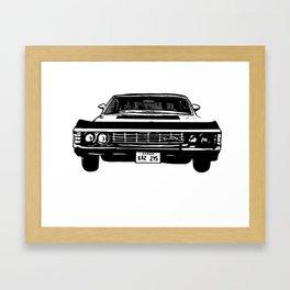 Supernatural 1967 Chevy Impala Framed Art Print