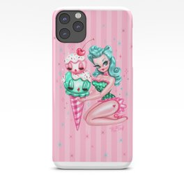 Ice Cream Pinup Doll iPhone Case