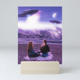 UFO Picnic Mini Art Print