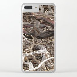 TEXTURES - Manzanita Drought Conditions #4 Clear iPhone Case