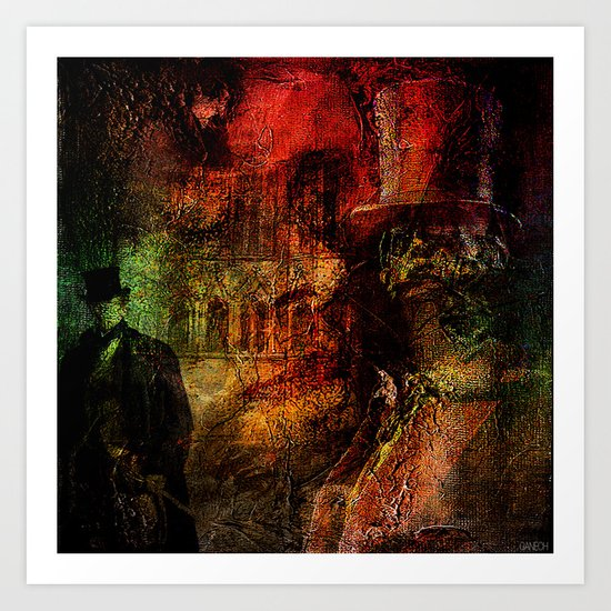 Whitechapel , first murder of Jack The Ripper Art Print