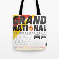 the national Tote Bags featuring Grand National by CynthiaLeduc