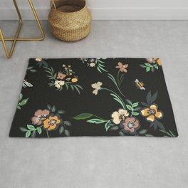 Black Forest Floral Print  Rug