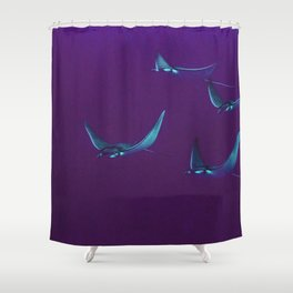 Retro Rays Shower Curtain