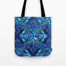 Deep Ocean Art Nouveau Watercolor Doodle Tote Bag