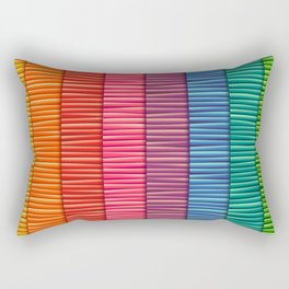 Rainbow Striped Pattern Rectangular Pillow