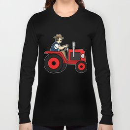 Tractor Farmer Gift Shirt Farmer Trecker Cool Long Sleeve T-shirt