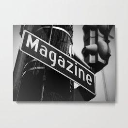 Magazine Street, New Orleans Metal Print