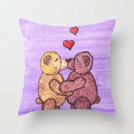 Bears in love Throw Pillow