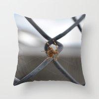 spider Throw Pillows featuring Spider by Labartwurx