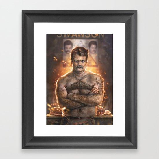 Ron ****ing Swanson Framed Art Print