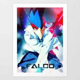 Melee   Falco - Blue Art Print