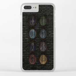 Medieval Shields Clear iPhone Case